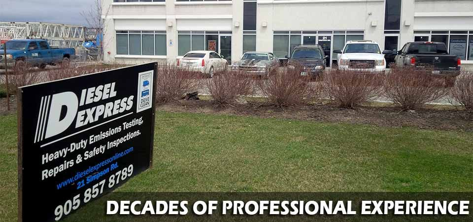 Decades of Professional Experience | front of Diesel Express